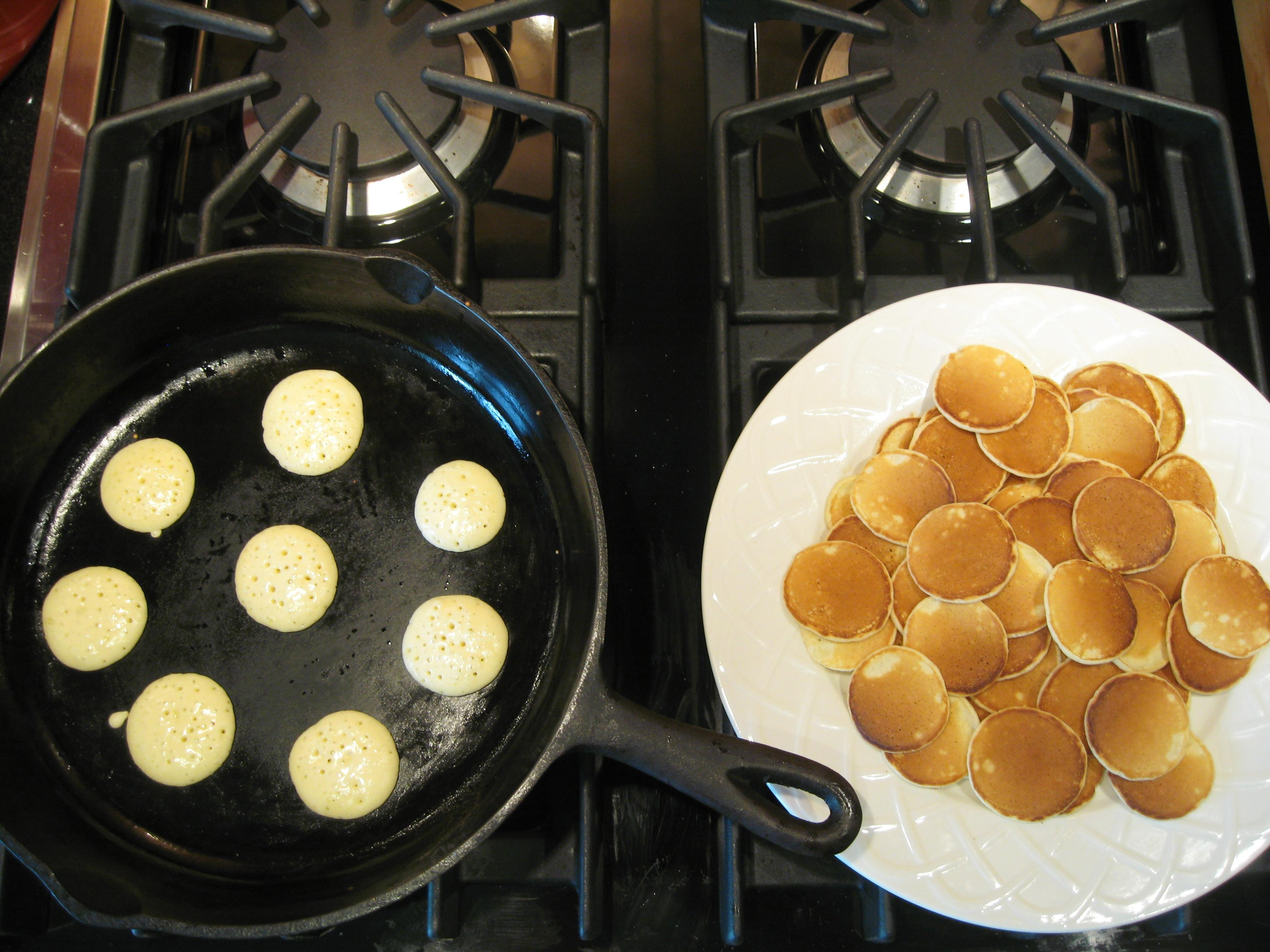 Smoked Salmon Silver Dollar Pancakes. Ingredients. 1 cup all purpose ...