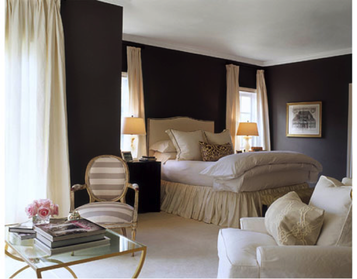Master Bedroom with Dark Walls 719 x 563