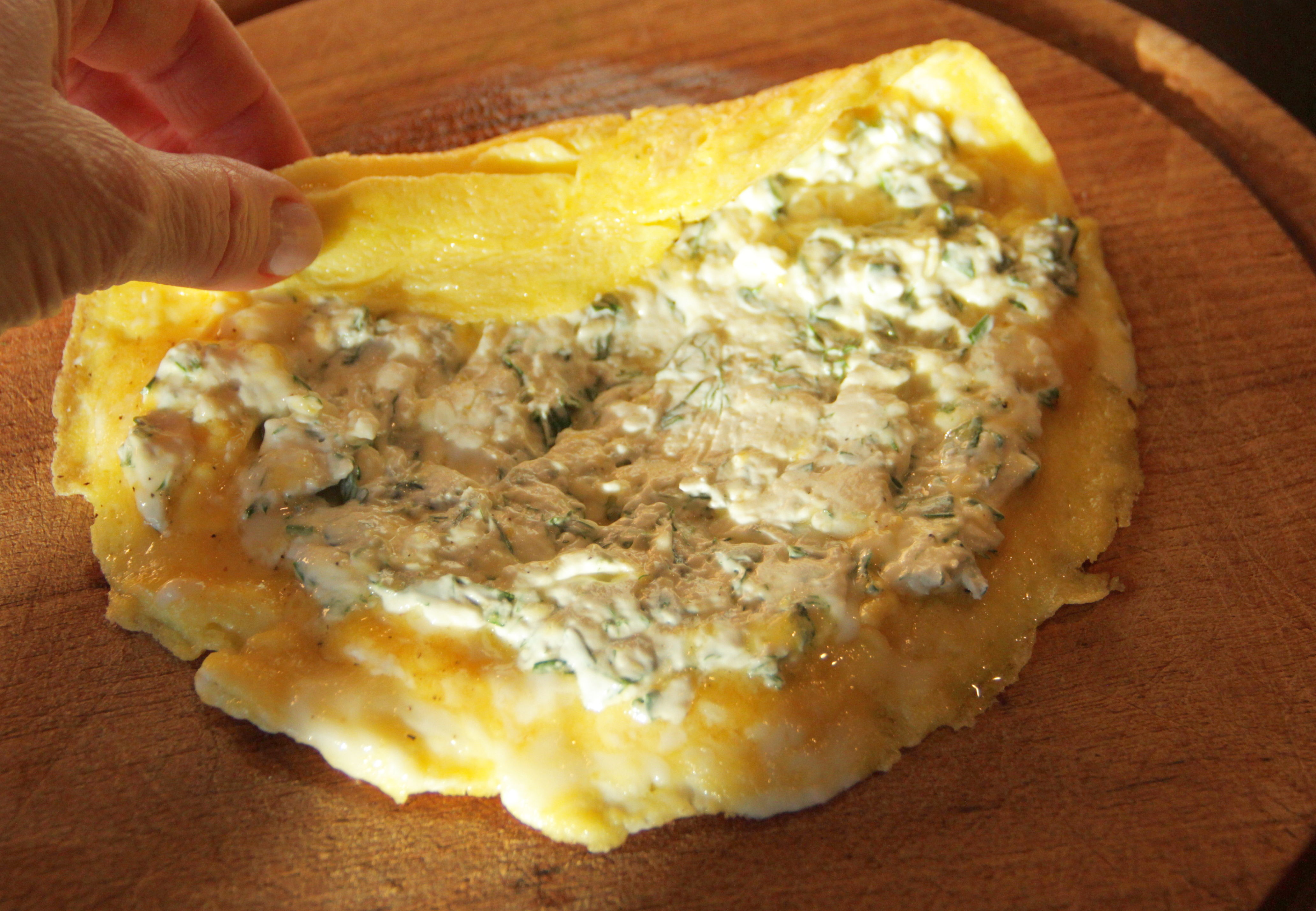 Rolled Omelet with Fresh Herbs 9