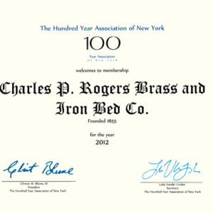 100 year association certificate