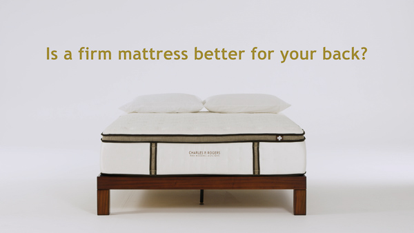 Mattress on a white background with title