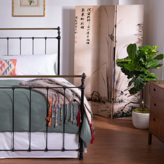 Iron & Brass sleigh bed image